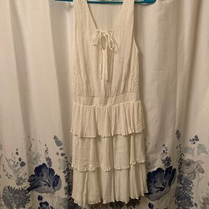 Bohemian White Dress Sz M
